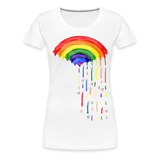 Love rainbow rain Women's Premium T-Shirt
