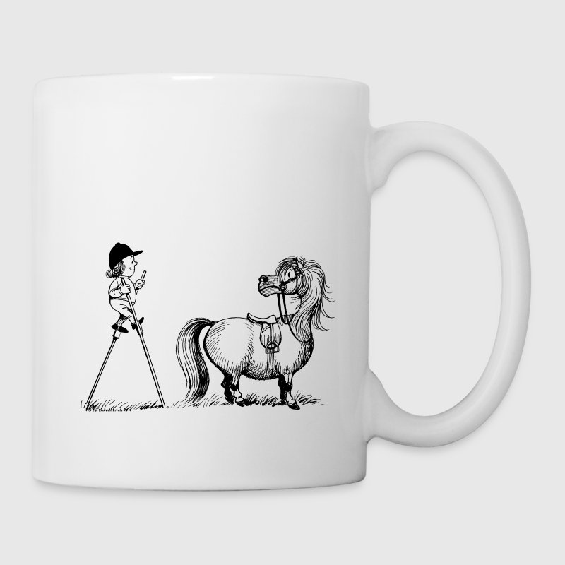 Thelwell Penelope Mounting Horse with Stilits - Coffee/Tea Mug