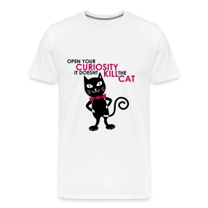 CURIOSITY & THE CAT (GUYS) - Men's Premium T-Shirt