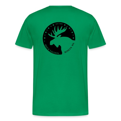 Mens Tee Moose logo back - Men's Premium T-Shirt