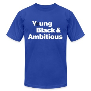 Men's YBA TShirt (Blue and White) - Men's T-Shirt by American Apparel