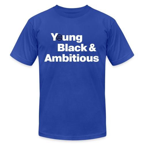 Men's YBA TShirt (Blue and White) - Men's Fine Jersey T-Shirt