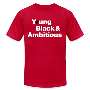 Men's YBA TShirt (Red and White) - Men's T-Shirt by American Apparel