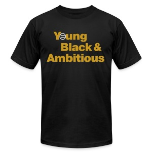 Men's YBA TShirt (Black & Gold) - Men's T-Shirt by American Apparel