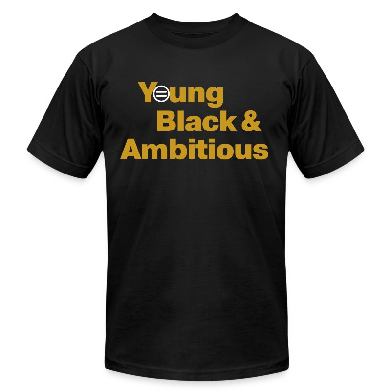 Men's YBA TShirt (Black & Gold) - Men's Fine Jersey T-Shirt