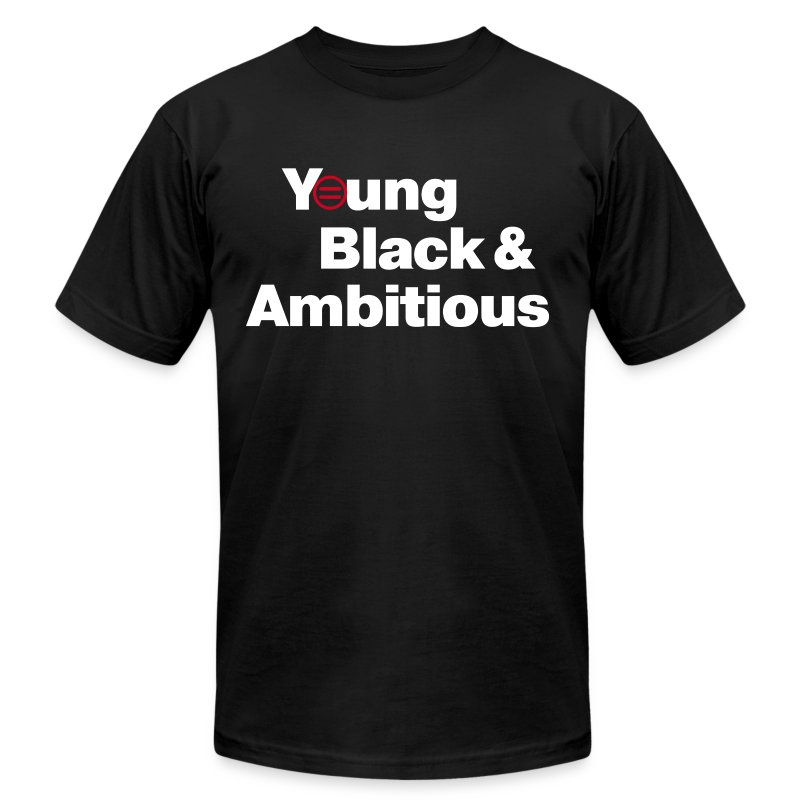 Men's YBA TShirt (Black and White) - Men's Fine Jersey T-Shirt