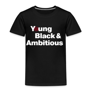 YBA Toddler Tee - Black - Toddler Premium T-Shirt