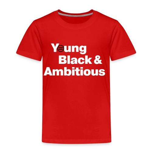 YBA Toddler Tee - Red and White - Toddler Premium T-Shirt