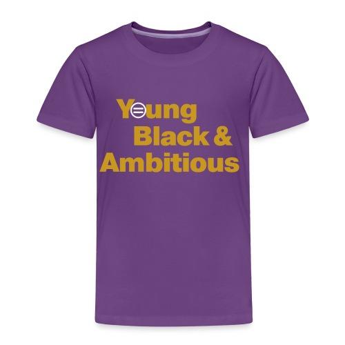 YBA Toddler Tee - Purple and Gold - Toddler Premium T-Shirt