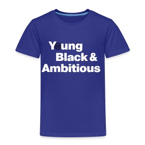 YBA Toddler Tee - Blue and White - Toddler Premium T-Shirt
