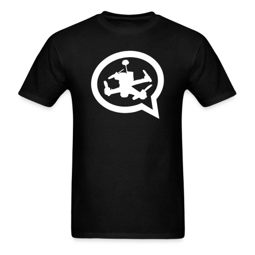 Men's Quad Talk Podcast Logo T-shirt-Black - Men's T-Shirt
