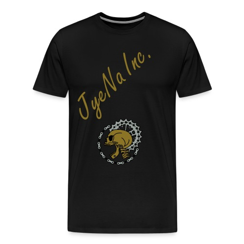 JyeNa Inc. MTB Skull Gold - Men's Premium T-Shirt