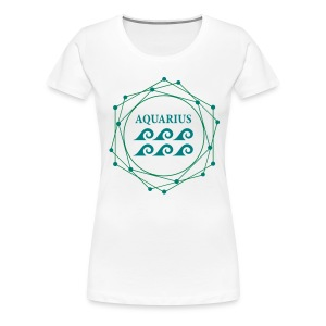 ZODIAC AQUARIUS (GIRLS) - Women's Premium T-Shirt