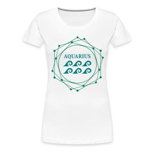ZODIAC AQUARIUS (GIRLS) - Women's Premium T-Shirt