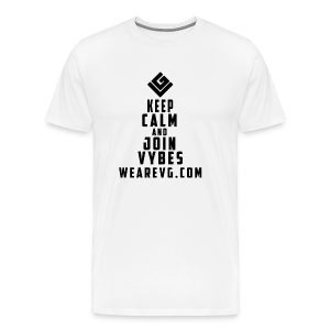 Join Vybes Men's T-Shirt (White) - Men's Premium T-Shirt