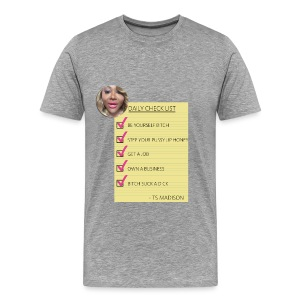 Ts Daily Checklist  men T shirt - Men's Premium T-Shirt