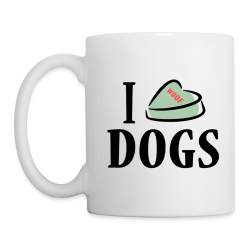 I Heart Dogs (feeds 14 shelter animals) - Coffee/Tea Mug