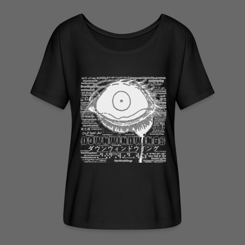 PAIN - Black pain T-shirt by DownWindWings (Female) - Women's Flowy T-Shirt