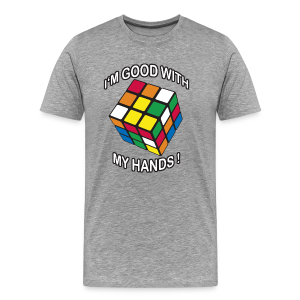 Rubik's Cube Good With My Hands - Men's Premium T-Shirt