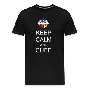Rubik's Cube Keep Calm Cube On - Men's Premium T-Shirt