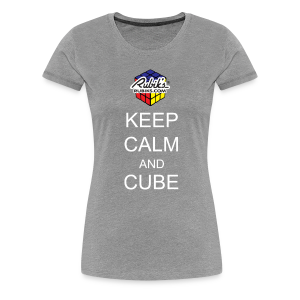 Rubik's Cube Keep Calm Cube On - Women's Premium T-Shirt