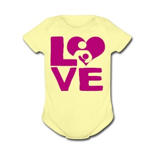 LOVE Breastfeeding - Short Sleeve Baby Bodysuit