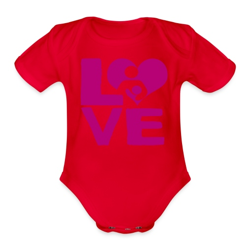 LOVE Breastfeeding - Organic Short Sleeve Baby Bodysuit