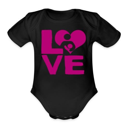 LOVE Breastfeeding - Organic Short Sleeve Baby Bodysuit