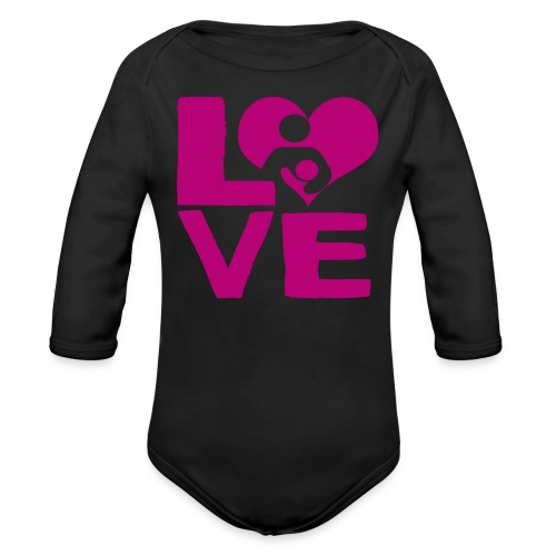 LOVE Breastfeeding - Organic Long Sleeve Baby Bodysuit