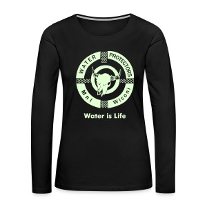 Water Protectors Mni Wiconi Water is Life - Women's Premium Long Sleeve T-Shirt