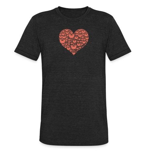 A Beardos Heart - AA - Unisex Tri-Blend T-Shirt
