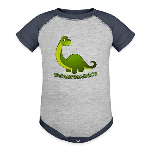 Intactosaurus! - Contrast Baby Bodysuit