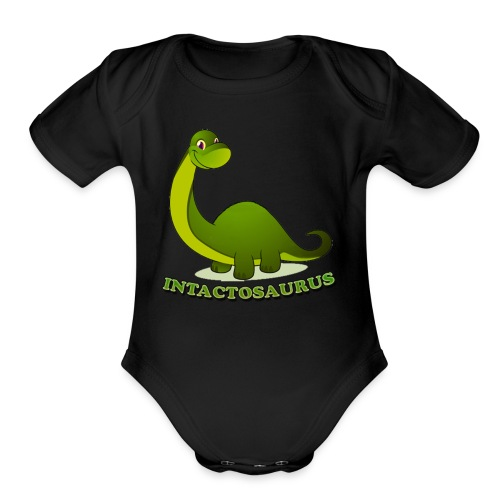 Intactosaurus! - Organic Short Sleeve Baby Bodysuit