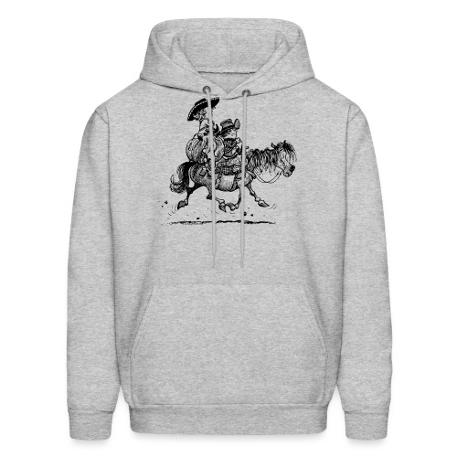 Thelwell Two Cowboys With Their Horse - Men's Hoodie
