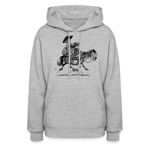 Thelwell Two Cowboys With Their Horse - Women's Hoodie