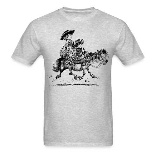 Thelwell Two Cowboys With Their Horse - Men's T-Shirt
