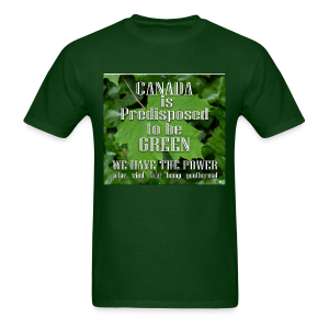 Green Canada Power T-shirts - Men's T-Shirt