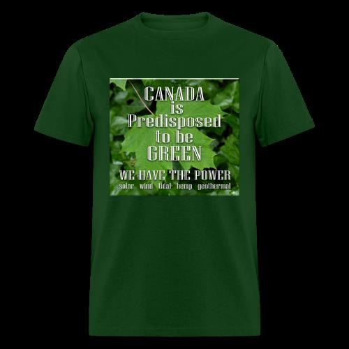 Green Canada Power T-shirts Men's - Men's T-Shirt