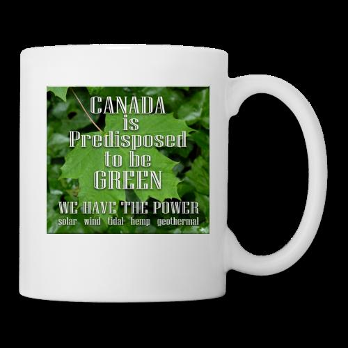 Green Canada Power Cups & Mugs - Coffee/Tea Mug