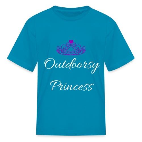 Outdoorsy Princess - T-Shirt  - Kids' T-Shirt