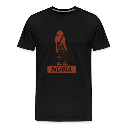 Nubian Heiroglyph (Cocoa Brown) - Men's Premium T-Shirt