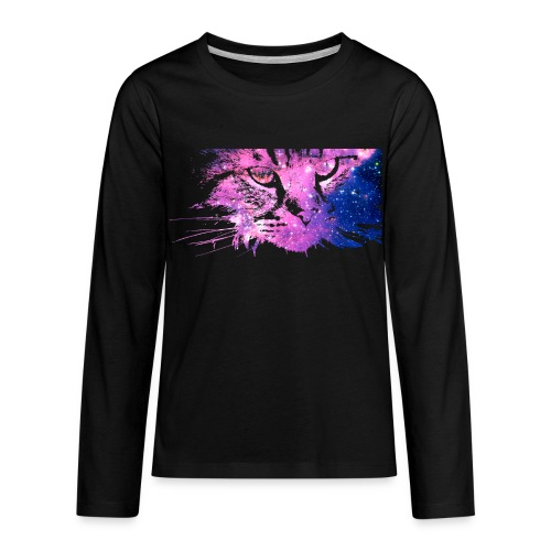 Galaxy Cat (Kids Long Sleeve) - Kids' Premium Long Sleeve T-Shirt