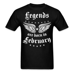 Legends are born in February birthday Vintage Stars sexy T-Shirt - Men's T-Shirt