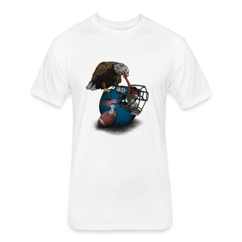 Wild American Football - Fitted Cotton/Poly T-Shirt by Next Level