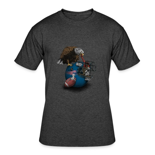 Wild American Football - Men's 50/50 T-Shirt