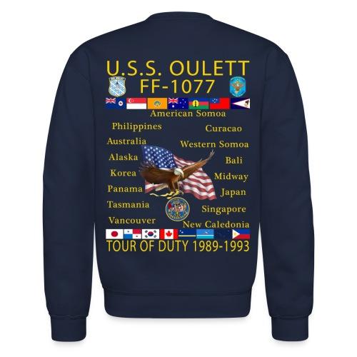 USS OULETT FF-1077 CUSTOM SWEATSHIRT - Crewneck Sweatshirt