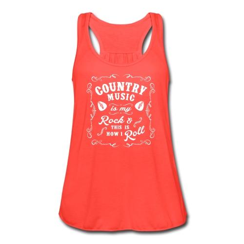 Country Music is my Rock  - Women's Flowy Tank Top by Bella