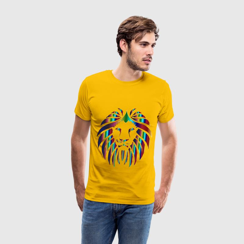 Prismatic Lion 3 No Background - Men's Premium T-Shirt