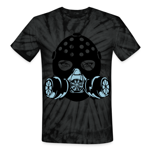 Gas mask Tee - Unisex Tie Dye T-Shirt