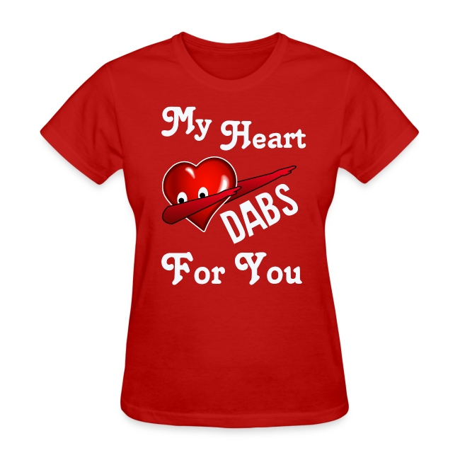 Shirts For Laughs Womens Valentines Day Dabbing Heart Womens T Shirt